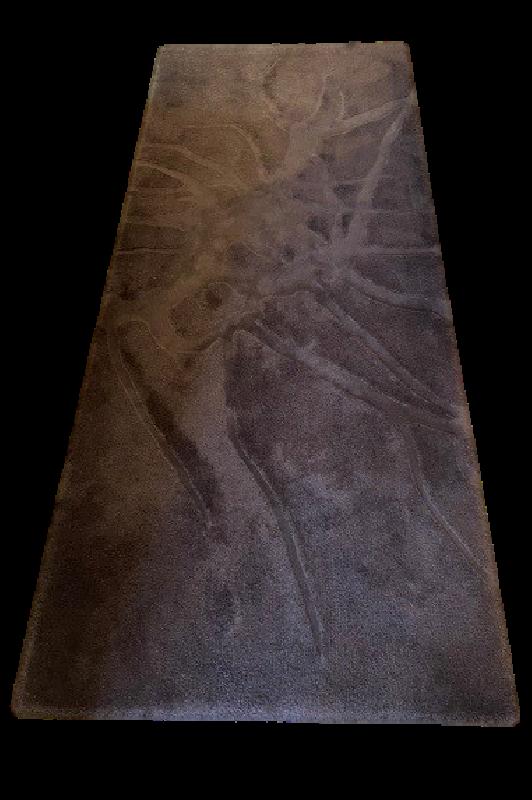 Chocolate Wool Hall Runner 2.5m