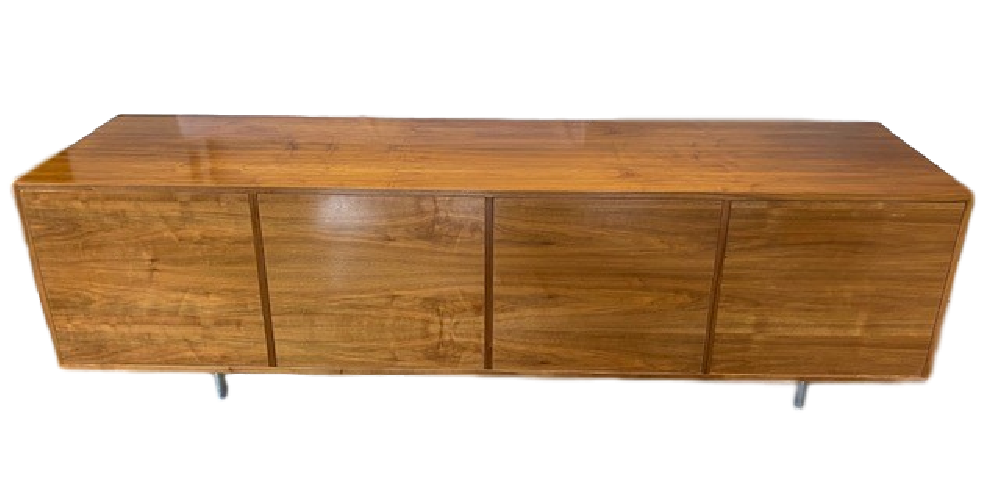 American Walnut Veneer 4 Door Sideboard
