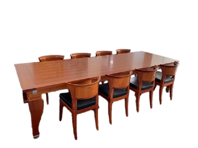 Mensa Magna Dining Table and Eight Sella Dining Chairs