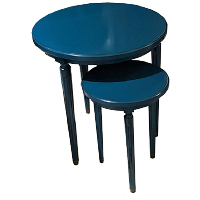 Ermitage Nest of Tables Blue Plume De Paon