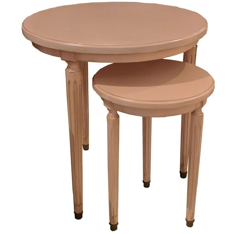 Ermitage Nest of Tables Rose Boudoir