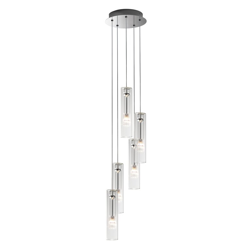 Fairy Cylinder Glass Pendant Light