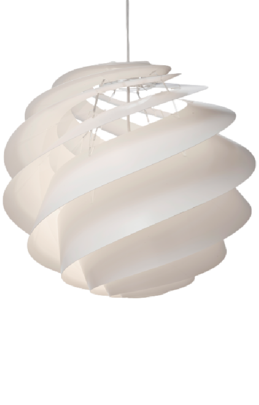 Swirl 3 Pendant Large in White