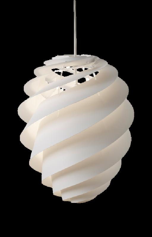 Swirl 2 Pendant Medium in White