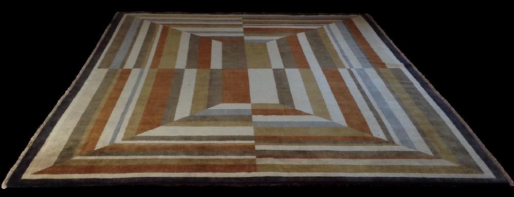 Art Deco Style Wool Rug
