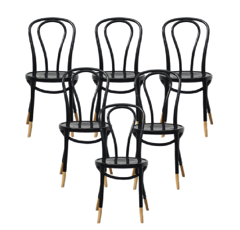 No.18 Bentwood Dining Chairs Set of 6