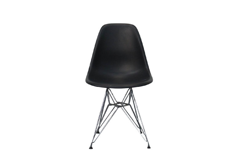 Moulded Plastic Side Chair DSR Black