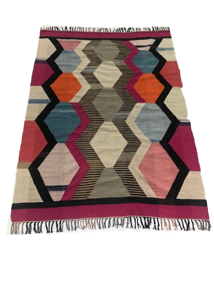 Deep Multi Coloured Kilim
