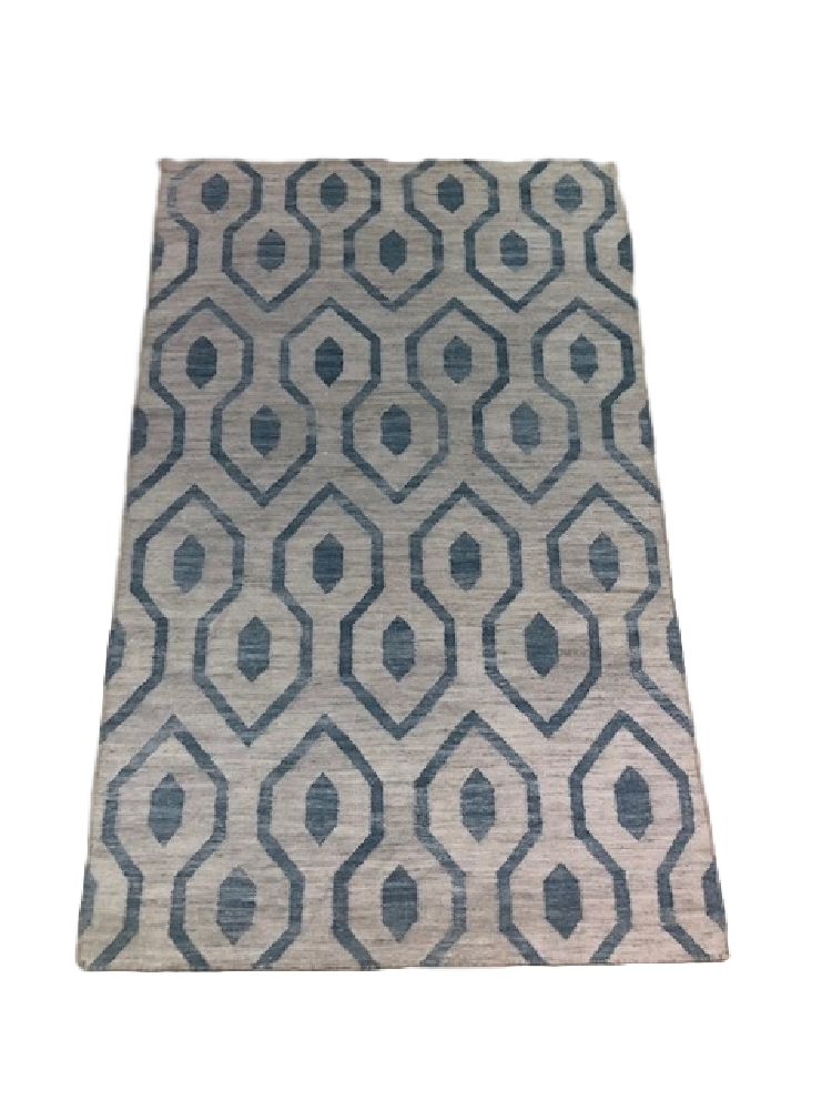 Blue Hexagon Rug