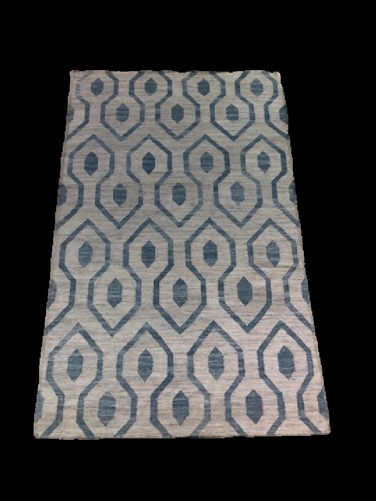 Blue Hexagon Rug