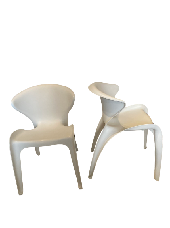 Pair of Calla Chairs by William Sawaya