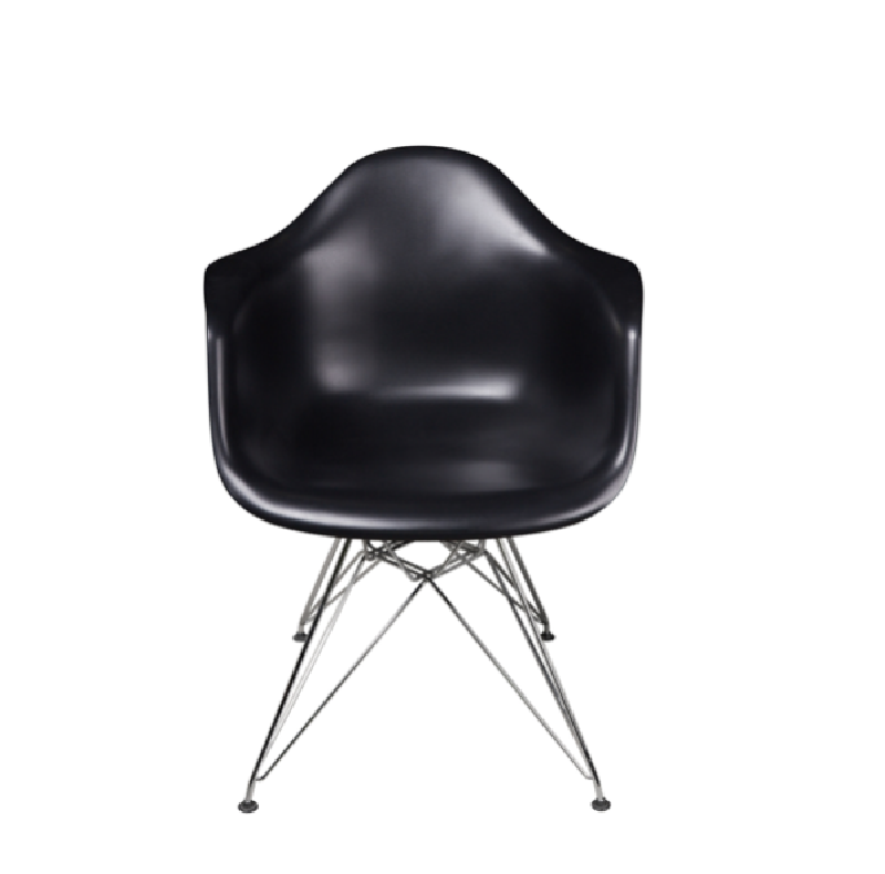 Moulded Plastic Armchair with Wire Base