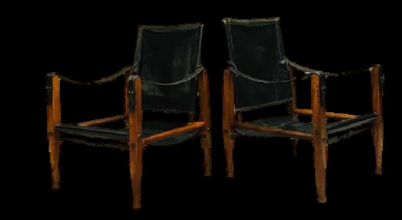 Pair of Vintage Safari Chairs By Kaare Klint