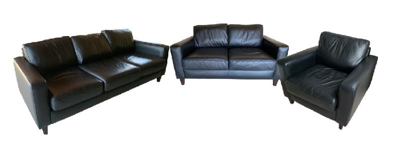 Leather Sofa Three Piece Set