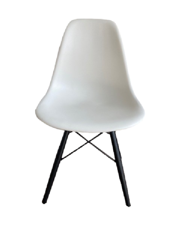 Moulded Plastic Side Chair with Dowel Base DSW