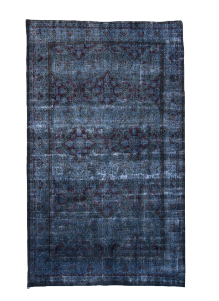 Vintage Over-dyed Distressed Rug